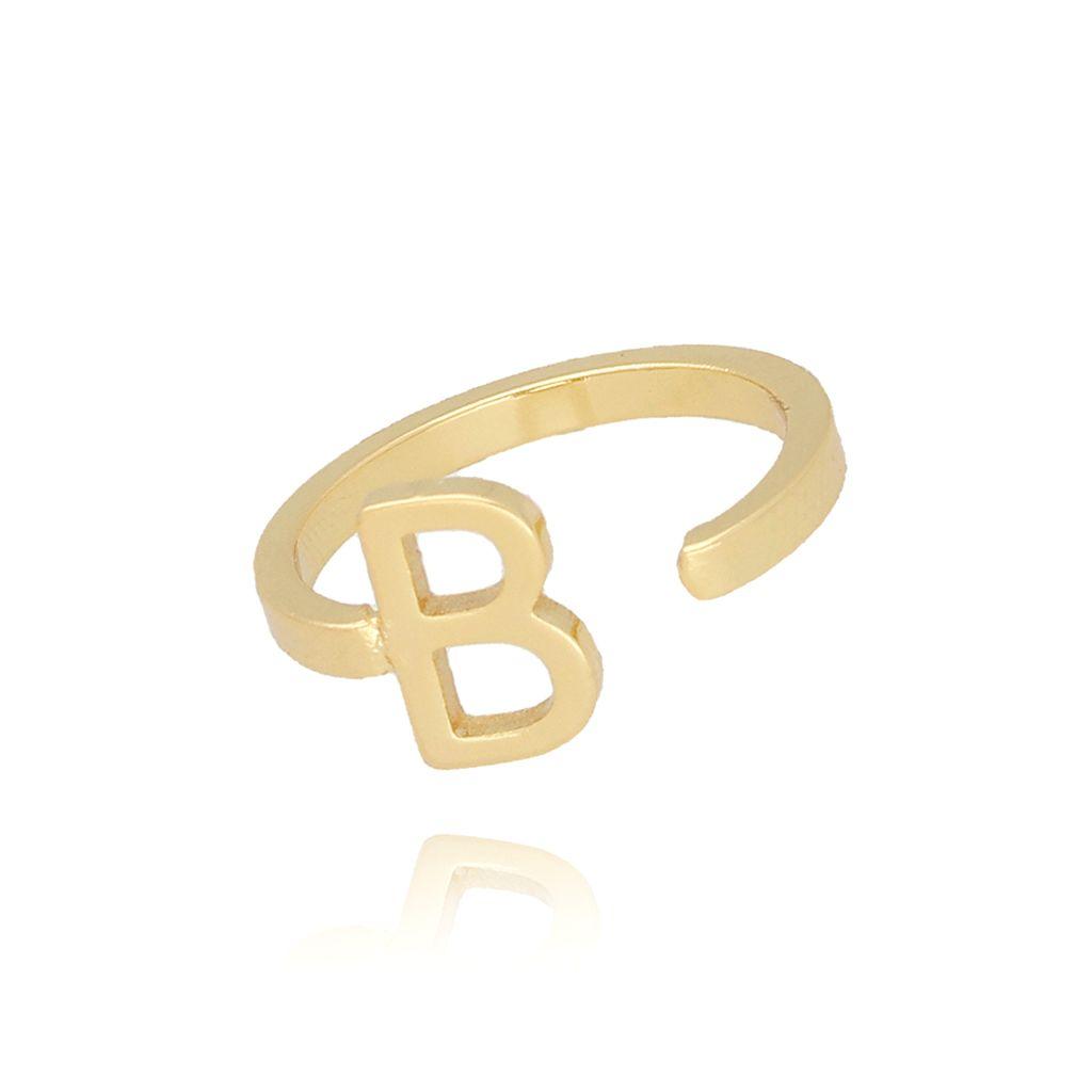 Pierścionek złoty literka B PAT0004