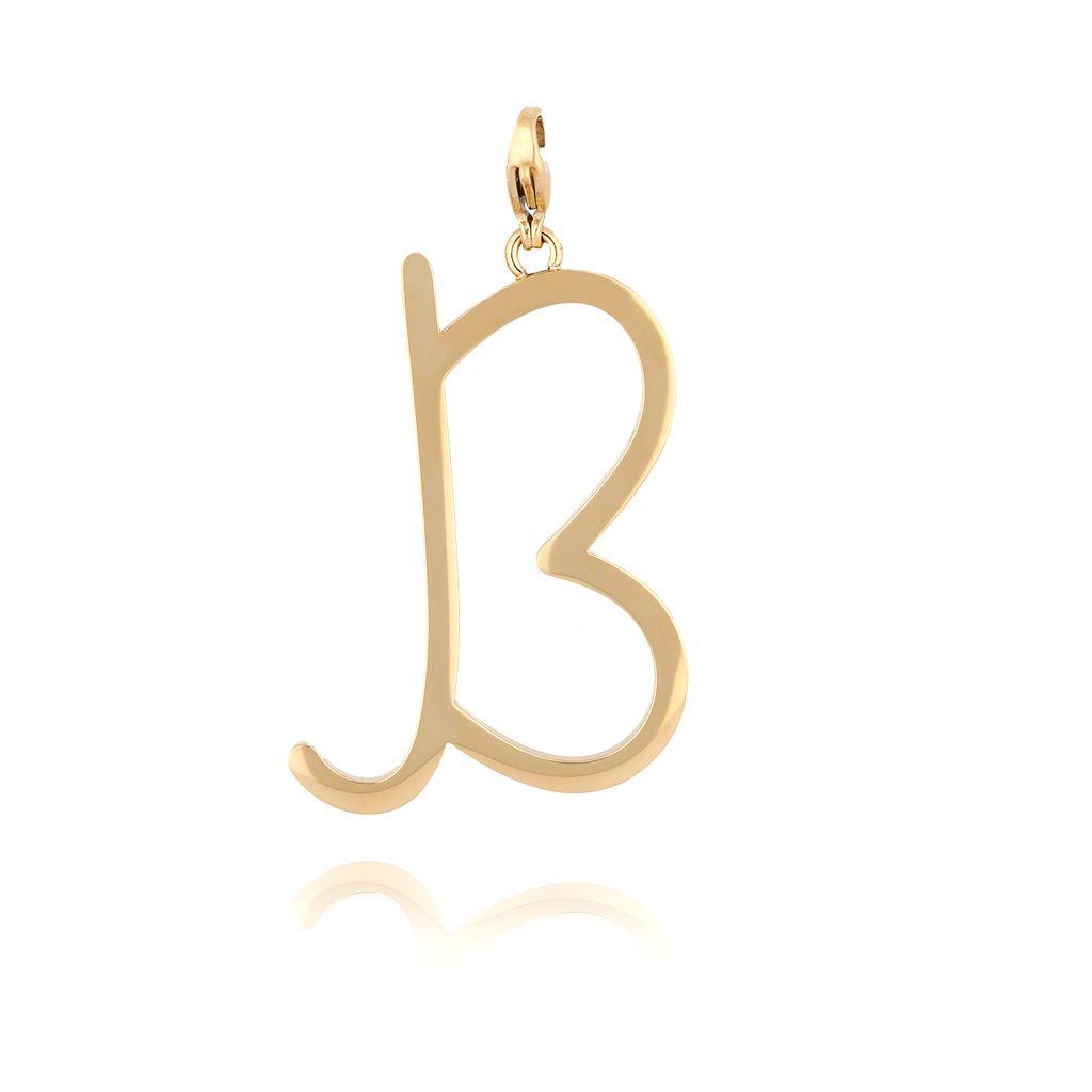 Zawieszka ze stali szlachetnej złota literka B Alphabet NAT0050