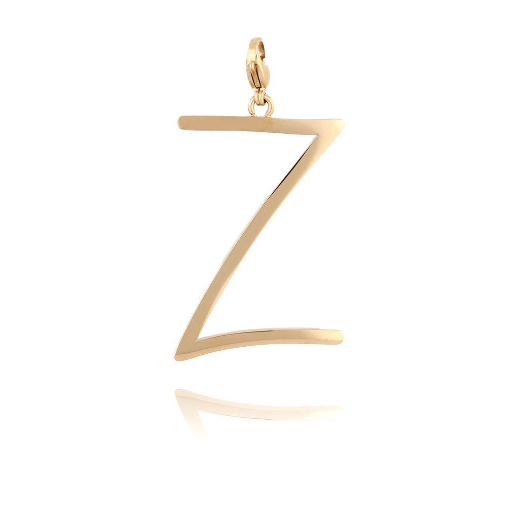 Zawieszka ze stali szlachetnej złota literka Z Alphabet NAT0064