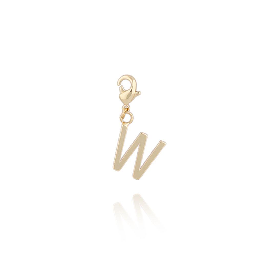 Charms złoty literką W NAT0186