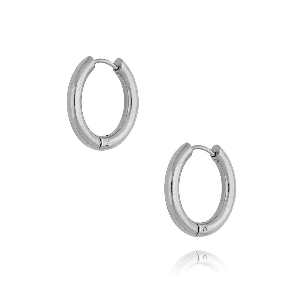 Kolczyki srebrne kółka średnie III KSA0140