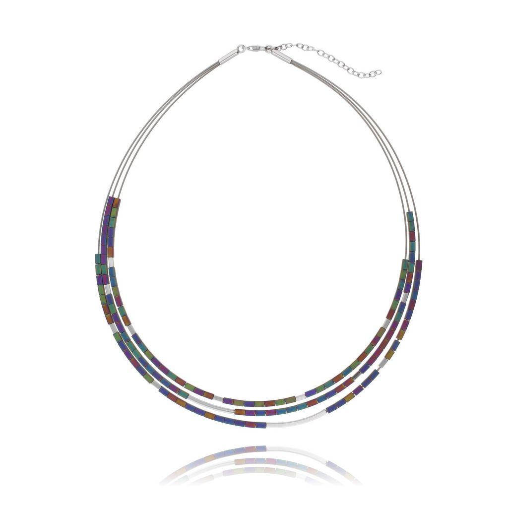 Naszyjnik srebrny z hematytem NLE0021