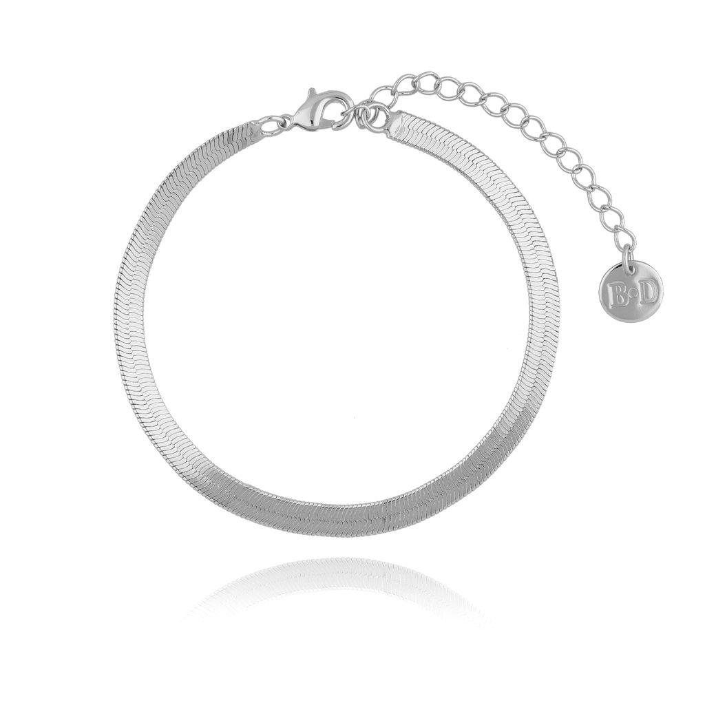 Bransoletka żmijka srebrna BRG0183