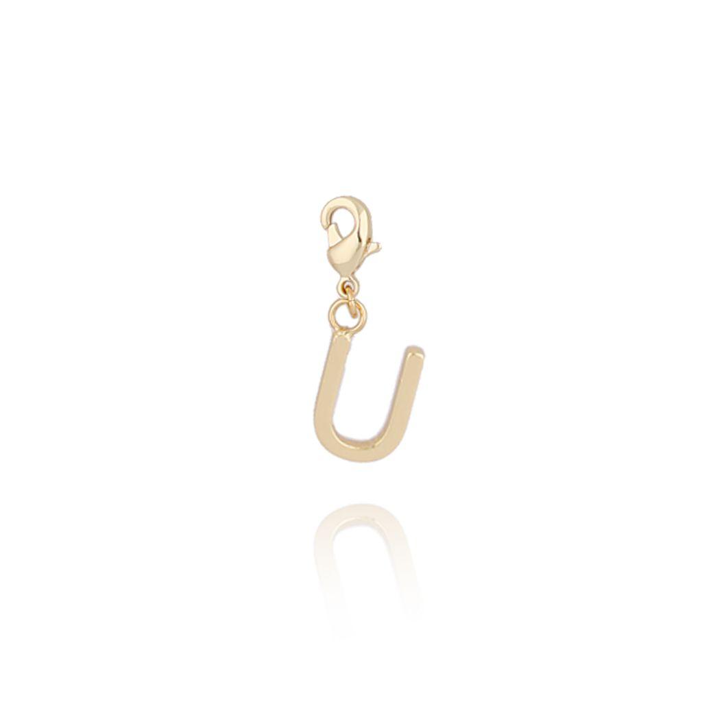 Charms złoty literką U NAT0184