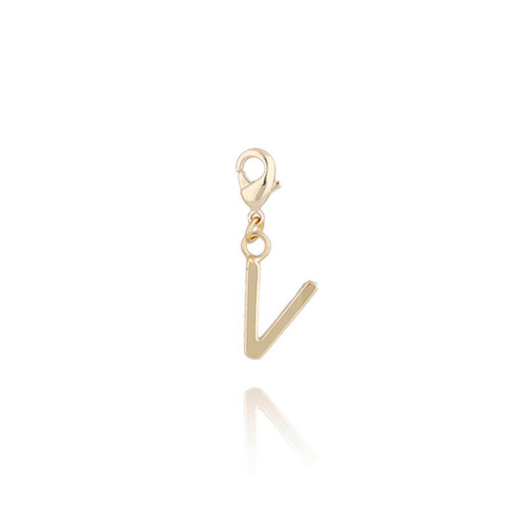 Charms złoty literką V NAT0185