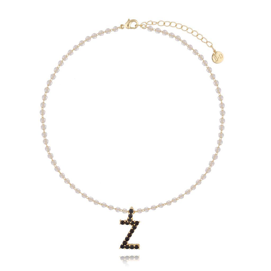 Naszyjnik kryształowy łańcuszek z literą Z NRG0200
