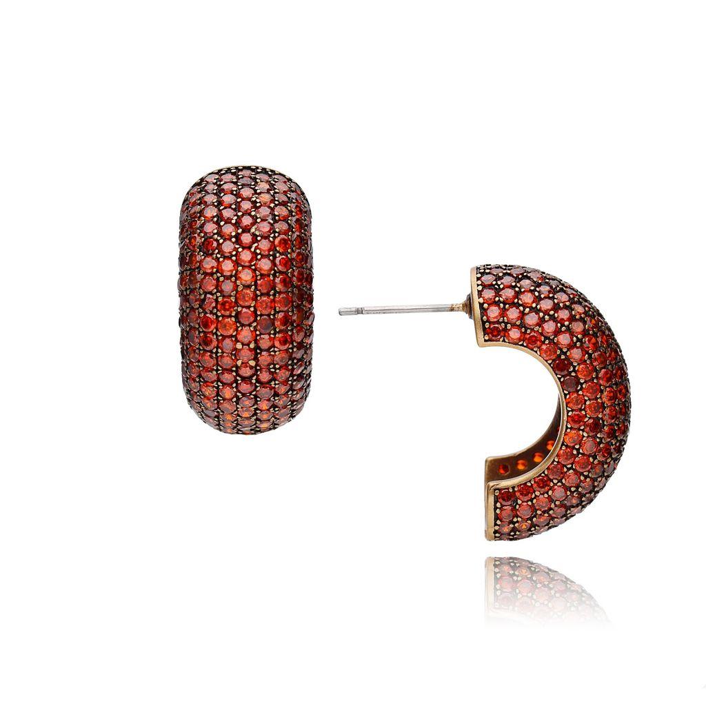 Kolczyki czerwone kryształowe KWO0014