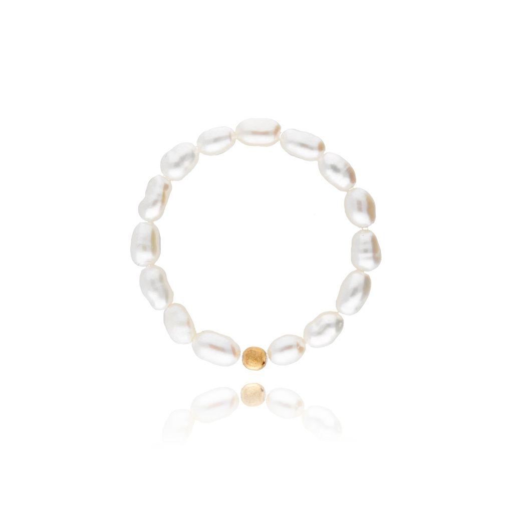 Pierścionek elastyczny z perełek PPE0012