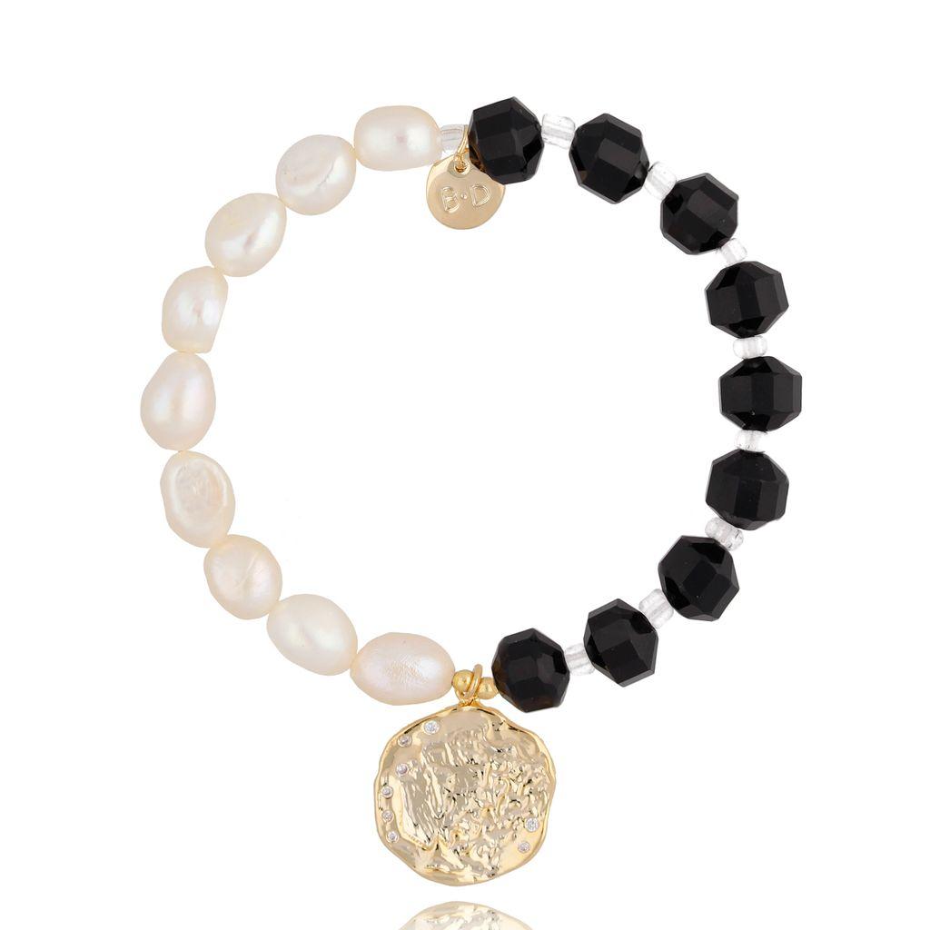 Bransoletka z perłami i kamieniami naturalnymi BPA0030