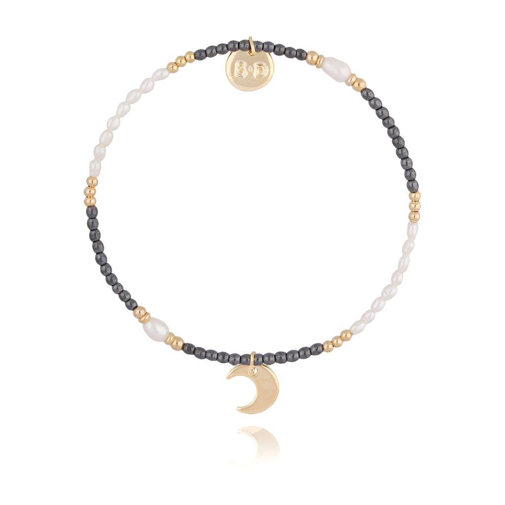 Bransoletka z hematytem i perłami BTW0202