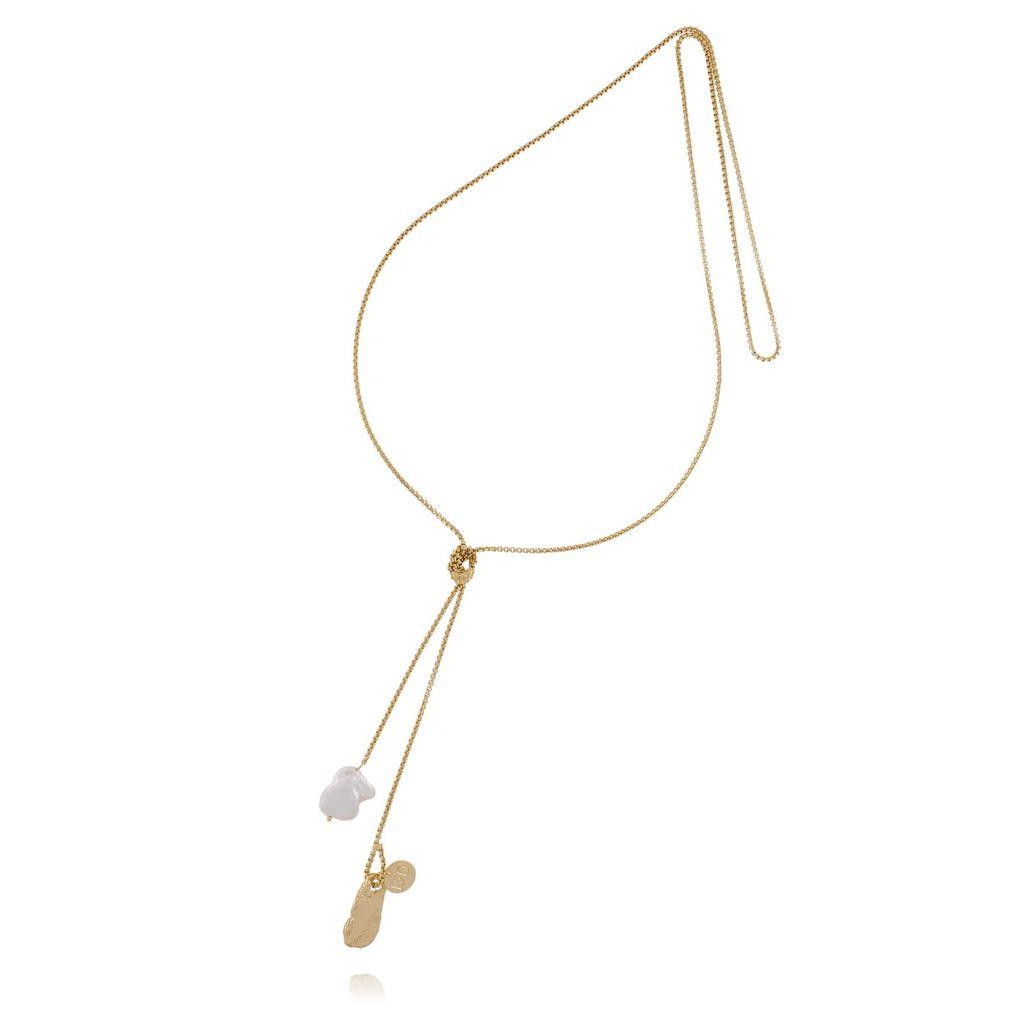 Naszyjnik złoty z masą perłową NPE0004