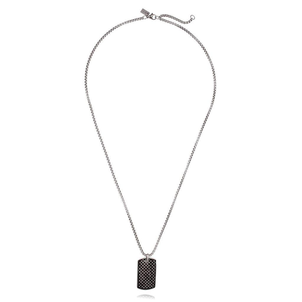 Naszyjnik męski srebrny ze stali szlachetnej NMITC0010