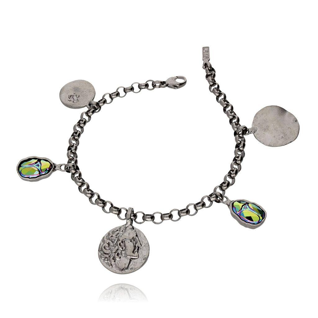 Bransoletka MOTYLE Nefertiti srebrna Skarabeusz BMO0076
