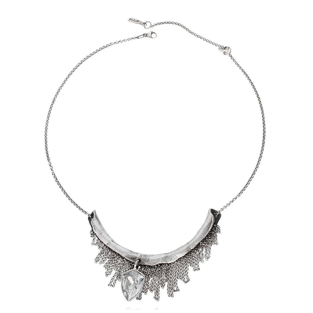 Naszyjnik MOTYLE  Monarchy srebrny z kryształem NMO0100