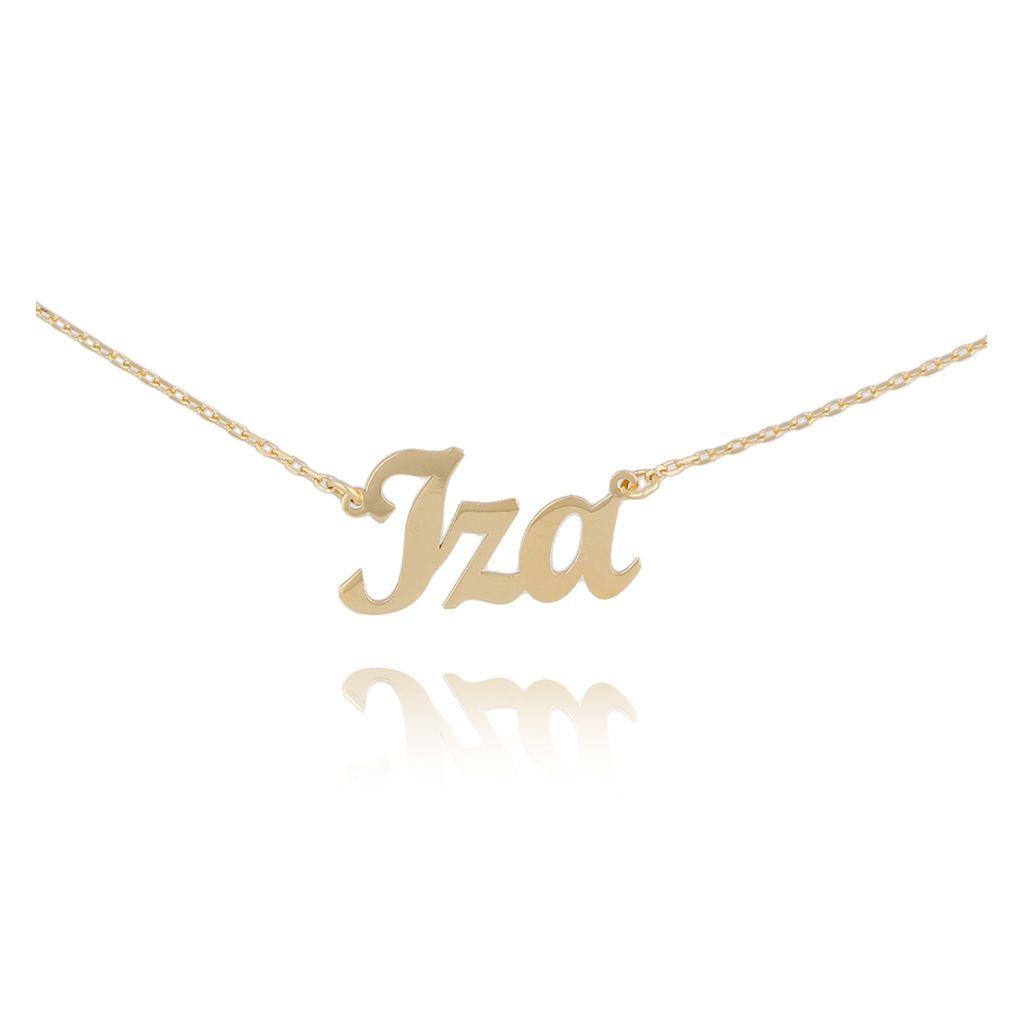 Naszyjnik srebrny pozłacany IZA NAT0133