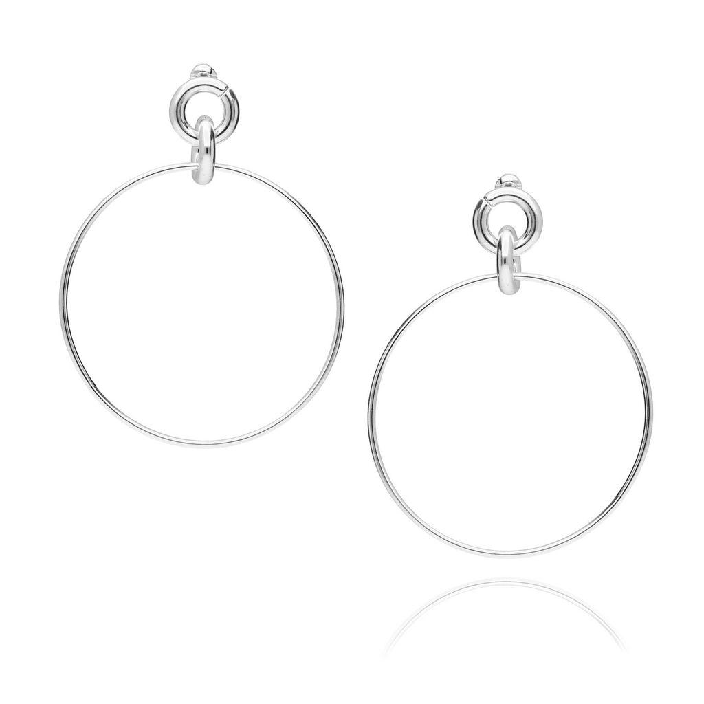 Kolczyki srebrne koła KRG0321