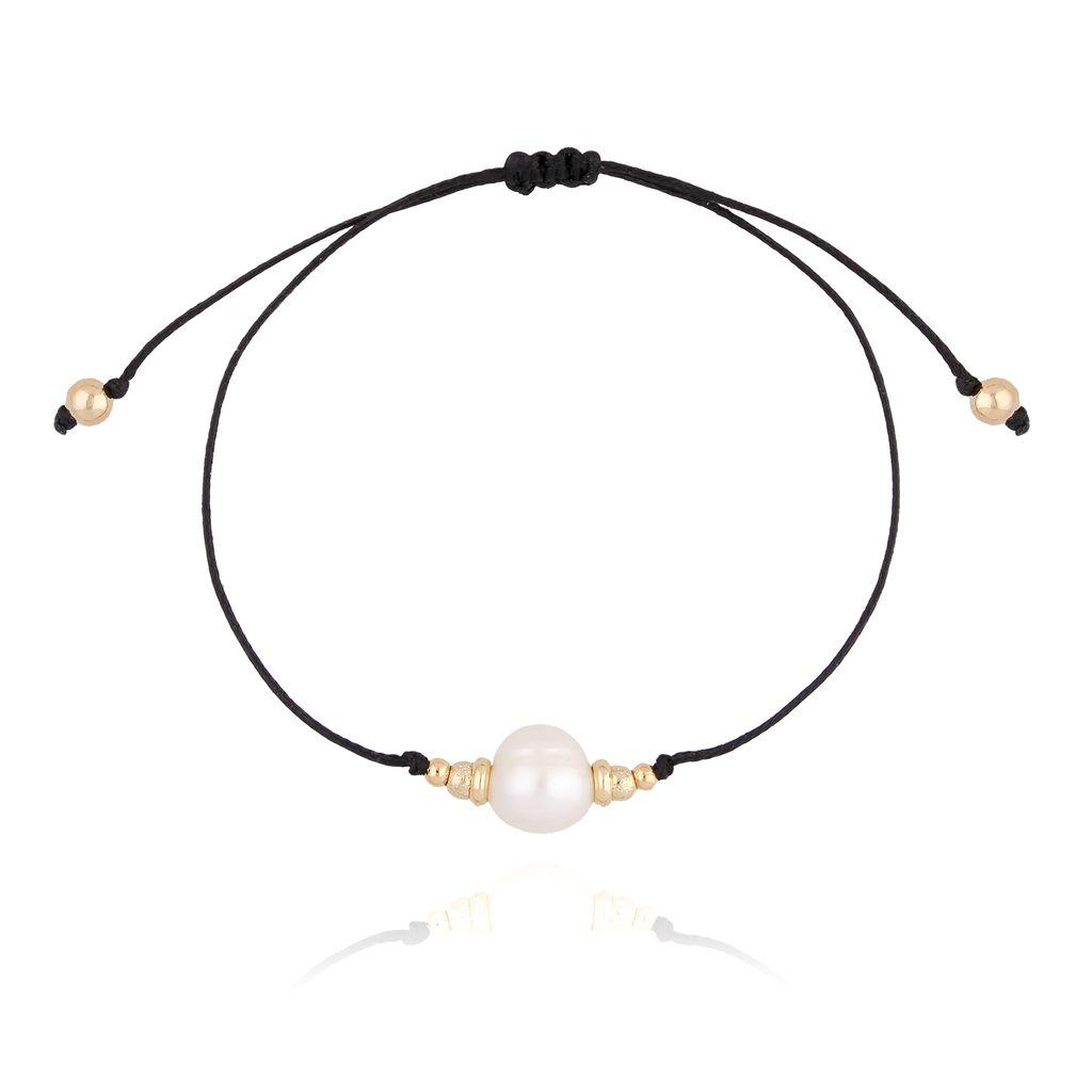 Bransoletka z perłą i sznurkiem BTW0200