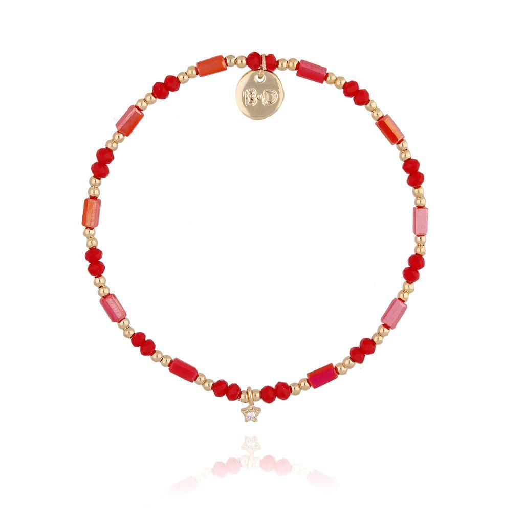 Bransoletka z czerwonymi kryształkami BTW0264