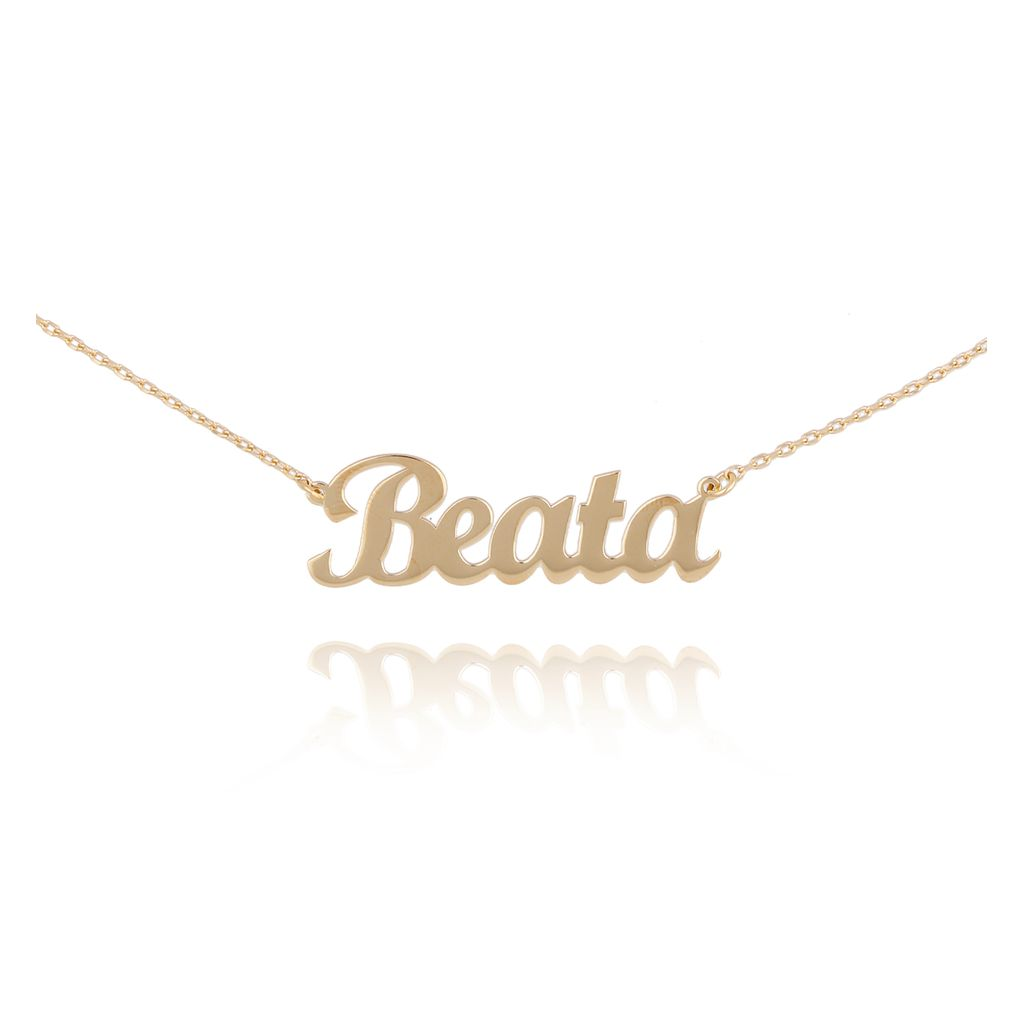 Naszyjnik pozłacany BEATA NAT0227