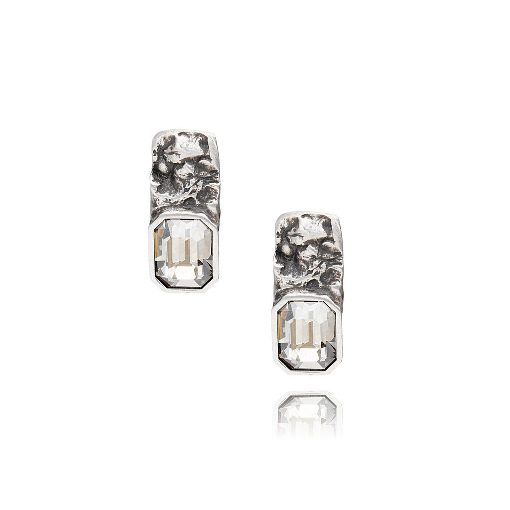 Kolczyki MOTYLE Selene srebrne z kryształami KMO0082