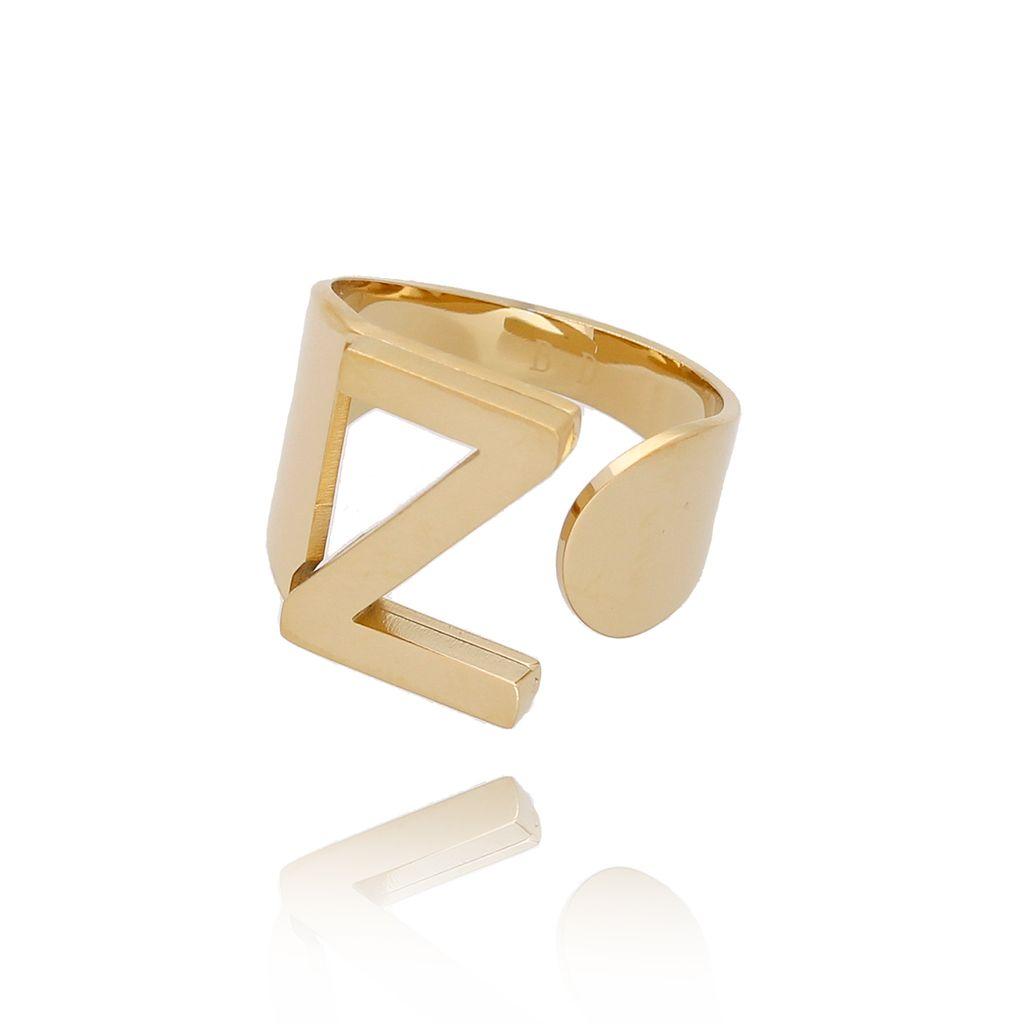 Pierścionek złoty ze stali szlachetnej z literką Z PSA0073