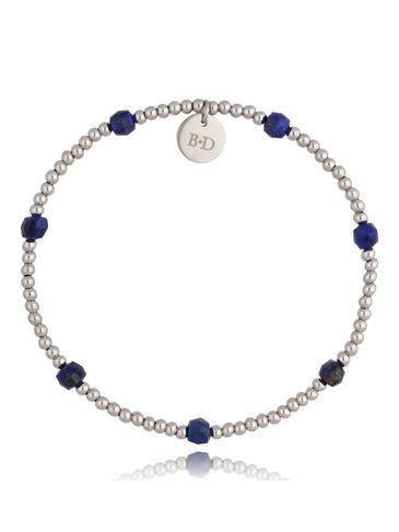 Bransoletka ze stali szlachetnej i lapis lazuli Secret BSC0975