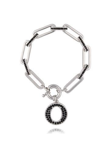 Bransoletka srebrny łańcuch z okrągłą zawieszką BRG0134