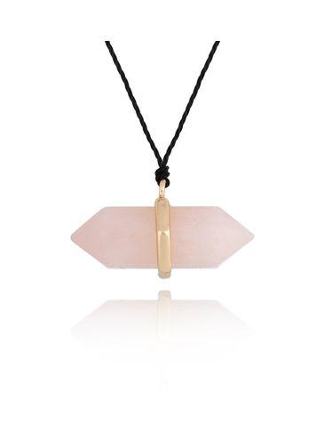 Naszyjnik z kwarcem różowym NPA0291