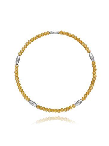 Bransoletka z kryształków - żółty BBA0036