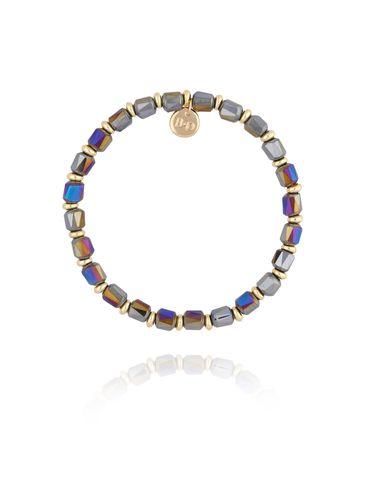 Bransoletka z szaro fioletowy kryształkami BBL0157