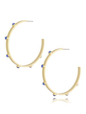 Kolczyki koła z niebieskimi kryształkami Disco KRG0710