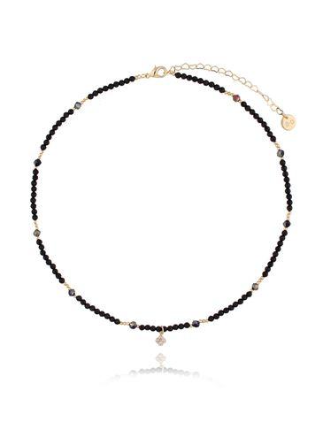 Naszyjnik czarny z kryształkiem NTW0090