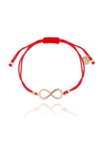 Bransoletka na czerwonym sznurku z nieskończonością BGL0451