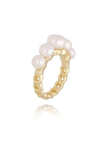 Pierścionek złoty z perłami PPE0034 rozmiar 18