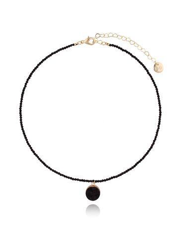 Naszyjnik z czarnym agatem NPA0010