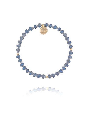 Bransoletka z niebieskich transparentnych kryształków BBL0195