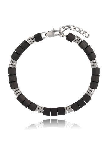 Bransoletka czarno-srebrna Luxury BMITC0318