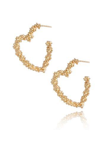 Kolczyki złote serca KRG0623