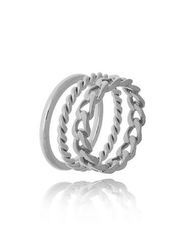 Zestaw pierścionków  ze stali szlachetnej PSA0130 Rozmiar 15