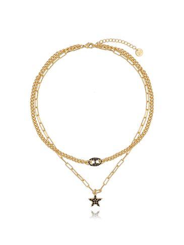 Naszyjnik złoty podwójny z gwiazdką NRG0262