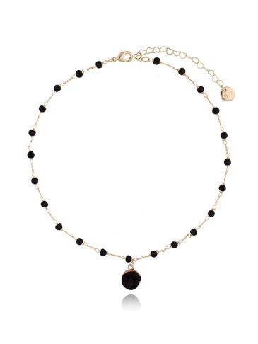 Naszyjnik z czarnym agatem na łańcuszku NPA0009