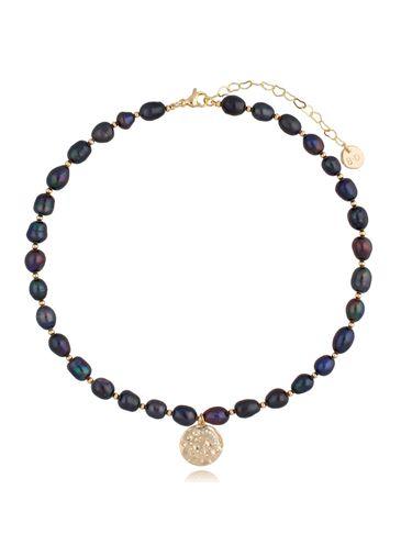 Naszyjnik z ciemnych pereł z zawieszką Night Pearls NPE0062
