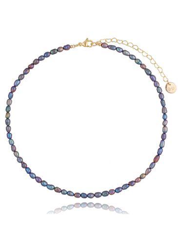 Naszyjnik z szarych pereł Little Foggy Pearls NPE0068