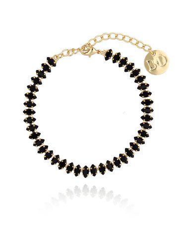 Bransoletka złota z czarnymi kryształkami BSS0017