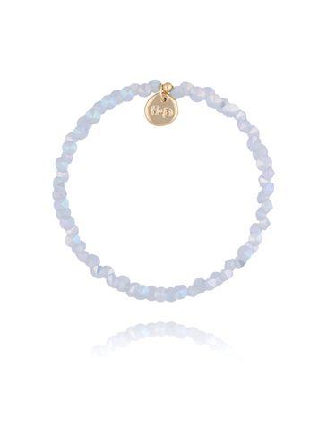 Bransoletka z błękitnymi kryształkami kryształkami BTW0231
