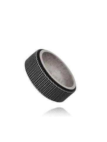 Pierścień męski obrączka - stal szlachetna PMITC0002
