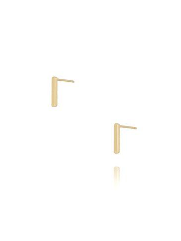 Kolczyki wkrętki z literką I złote KAT0011