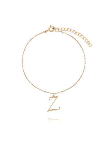 Bransoletka srebrna pozłacana z literką Z BAT0053
