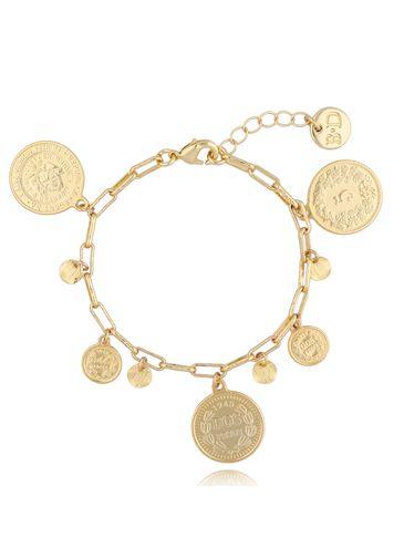 Bransoletka złoty łańcuch z monetami BSL0012