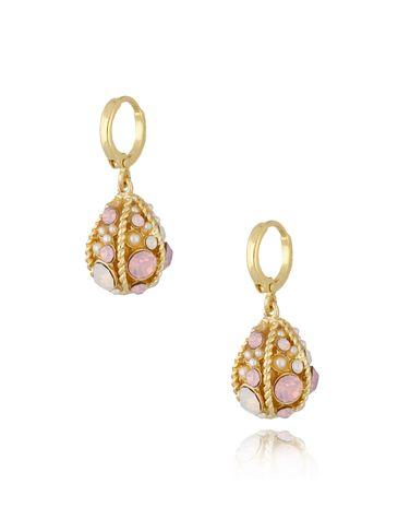 """Kolczyki """"jajka Faberge"""" różowe KRG0669"""